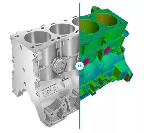 模具開發比對3D檔案與CNC模具